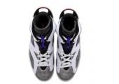 Баскетбольные кроссовки Nike Air Jordan 6 Retro White/Grey - Фото 3