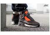 Кроссовки Nike Air Max 90 SneakerBoot Velvet Brown/Hyper Crimson - Фото 4