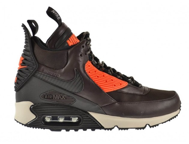 Кроссовки Nike Air Max 90 SneakerBoot Velvet Brown/Hyper Crimson