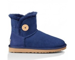 UGG MINI BAILEY BUTTON BOOT NAVY