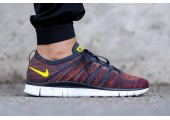 Кроссовки Nike Free Flyknit NSW Anthracite/Laser Orange - Фото 2