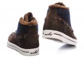 Кроссовки Nike High Top Fur Brown С МЕХОМ - Фото 2