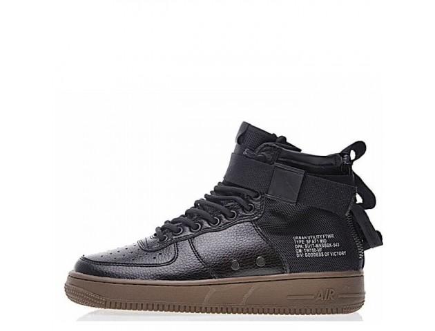 Кроссовки Nike SF Air Force 1 Utility Mid Black/Grey