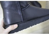 UGG Bailey Button Leather Black - Фото 10