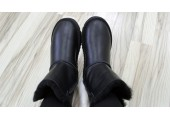 UGG Bailey Button Leather Black - Фото 6