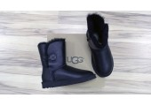 UGG Bailey Button Leather Black - Фото 8