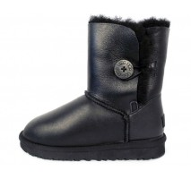 UGG BAILEY BUTTON II BOOT LEATHER BLACK