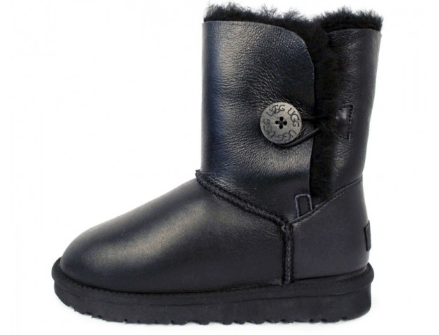 UGG Bailey Button Leather Black
