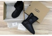 UGG Bailey Button Leather Black - Фото 2