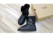 UGG Bailey Button Leather Black - Фото 4