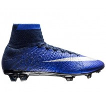 Футбольные бутсы Nike Mercurial Superfly CR7 Natural Diamond FG - Deep Royal Blue/Metallic Silver/Racer Blue/Black