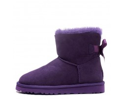 UGG MINI BAILEY BOW II BOOT PURPLE