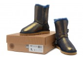 UGG Bailey Button Bling Metallic Blue/Gold - Фото 7