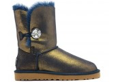 UGG Bailey Button Bling Metallic Blue/Gold - Фото 1