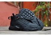 Кроссовки Nike Huarache X Acronym City MID Leather All Black - Фото 2