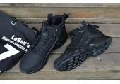 Кроссовки Nike Huarache X Acronym City MID Leather All Black - Фото 5