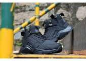 Кроссовки Nike Huarache X Acronym City MID Leather All Black - Фото 3