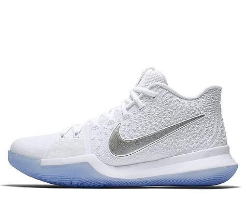1bdc2e21 Баскетбольные кроссовки Nike Kyrie Irving 3 White Chrome купить в ...