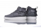 Кроссовки Nike SF Air Force 1 Utility Mid Grey/White - Фото 3
