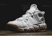 Кроссовки Nike Air More Uptempo White Gum - Фото 5