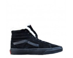 Зимние кеды Vans Old School Suede Black С МЕХОМ