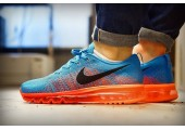 Кроссовки Nike Air Max Flyknit 2015 Blue/Orange - Фото 8