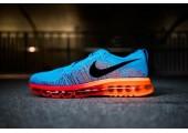 Кроссовки Nike Air Max Flyknit 2015 Blue/Orange - Фото 5