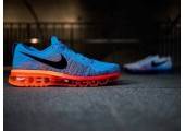 Кроссовки Nike Air Max Flyknit 2015 Blue/Orange - Фото 10