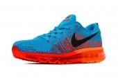 Кроссовки Nike Air Max Flyknit 2015 Blue/Orange - Фото 2