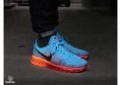 Кроссовки Nike Air Max Flyknit 2015 Blue/Orange - Фото 7