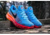 Кроссовки Nike Air Max Flyknit 2015 Blue/Orange - Фото 6