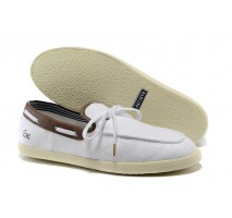 Мокасины Lacoste Casual White and Coffee