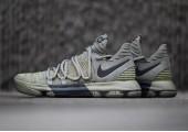 Кроссовки Nike KD 10 Dark Stucco/Anthracite - Фото 2