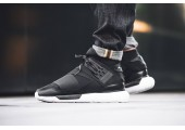 Кроссовки Adidas Y-3 Qasa High Core Black/White - Фото 9