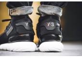 Кроссовки Adidas Y-3 Qasa High Core Black/White - Фото 5
