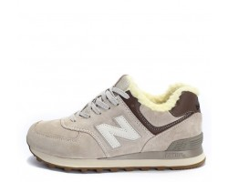 Кроссовки New Balance 574 Winter Light Grey С МЕХОМ