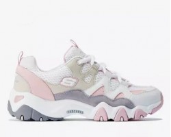 Кроссовки Skechers D'Lites 2 White/Pink/Beige
