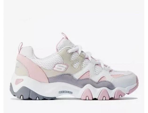 Кроссовки Skechers DLites 2 White/Pink/Beige