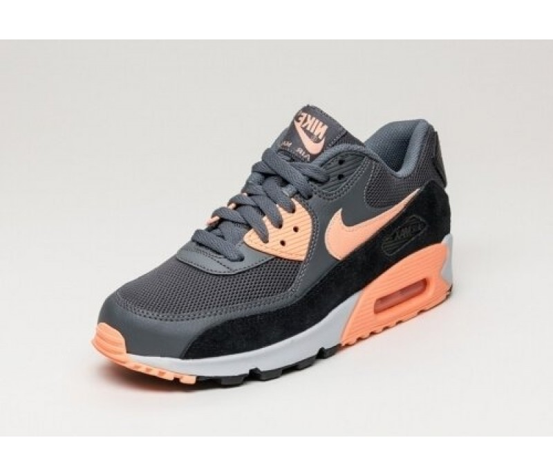 online store 9eef4 2026b Кроссовки Nike Air Max 90 Essential Dark Grey Sunset Glow-Pure Platinum