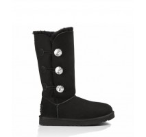 UGG BAILEY BUTTON TRIPLET II BOOT BLING BLACK