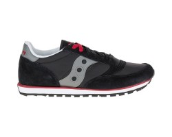 Оригинальные кроссовки Saucony Jazz Low Pro Black/Red/Grey (Код:2866-7S)