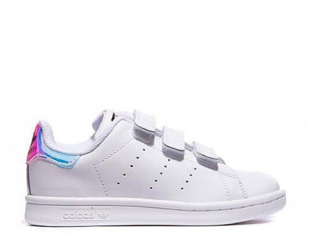 Кроссовки Adidas Stan Smith Hologram Velcro