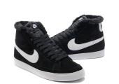 Кроссовки Nike Dunk Hight Black С МЕХОМ - Фото 7