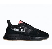Кроссовки Adidas ZX 500 RM Core Black/Flesh Red