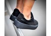 Кроссовки Puma x Rihanna Fenty Suede Creeper Satin Black - Фото 2