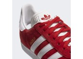 Кроссовки Adidas Gazelle Scarlet/White/Gold - Фото 7