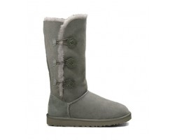 UGG BAILEY BUTTON TRIPLET II BOOT GREY