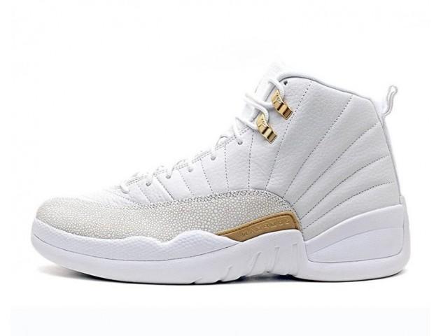Баскетбольные кроссовки Nike Air Jordan 12 OVO White Gold