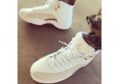 Баскетбольные кроссовки Nike Air Jordan 12 OVO White Gold - Фото 3