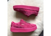 Кроссовки Puma Suede Creeper x Rihanna Bordo - Фото 3